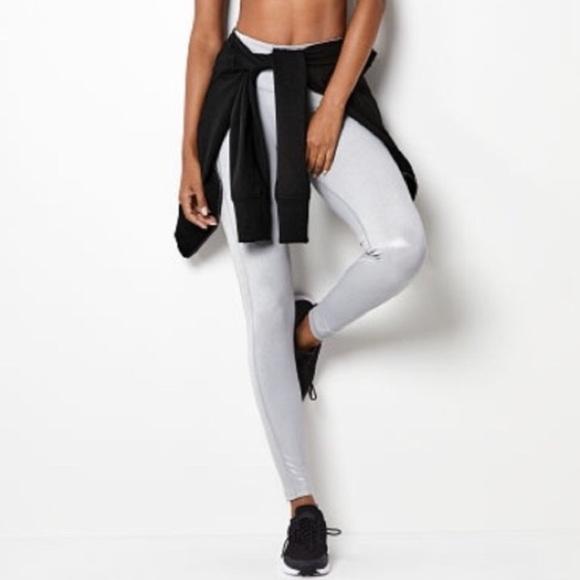 69486149480b2c Victoria's Secret Pants | Victorias Secret Metallic Knockout Tight ...